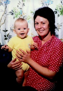 Scott as a baby with his mum Sandra