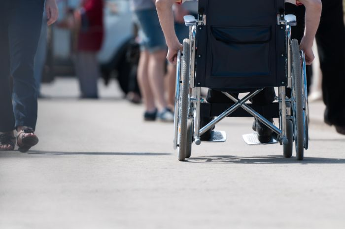 wheelchair user shopping