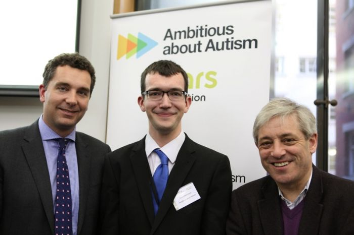 Children and Families Minister Edward Timpson MP, Youth Patron David Nicholson, and Parent Patron Speaker John Bercow MP