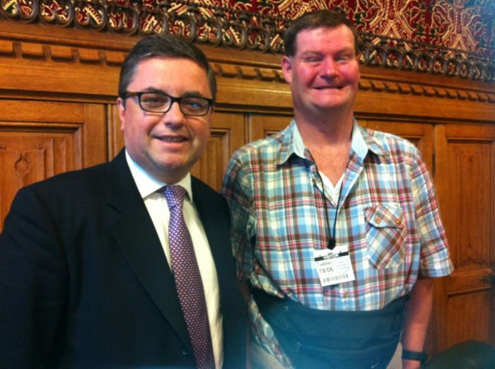 Clive with Robert Buckland MP