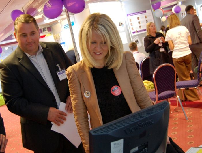 Esther McVey, Minister for Disabled People, tours Expo2013