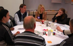 Esther McVey MP meets candidates at a 'virtual' Remploy branch