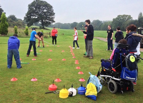 Youngsters at the Golf-Ability club at Padbrook Park.