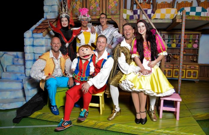 The Snow White cast. (Picture by Simon Hadley)