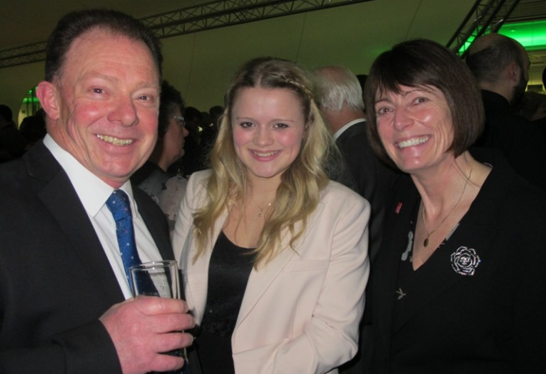 Bill and Amanda Everett with Claire Pelham at the Charity Staff Awards