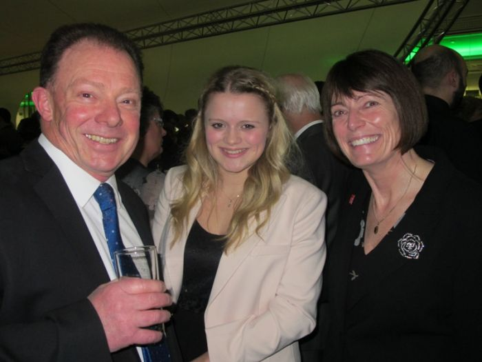 Bill and Amanda Everett with Claire Pelham at the Charity Staff  Foundation Awards