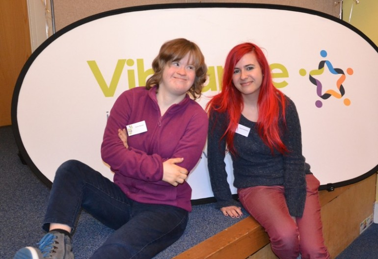 Service user Annie Parsons and Personal assistant Naomi Matthews