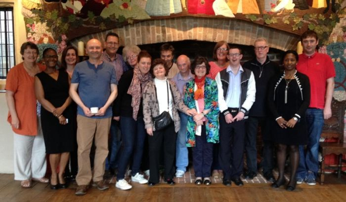Staff and service user trainers from Vibrance are pictured together at a recent meeting