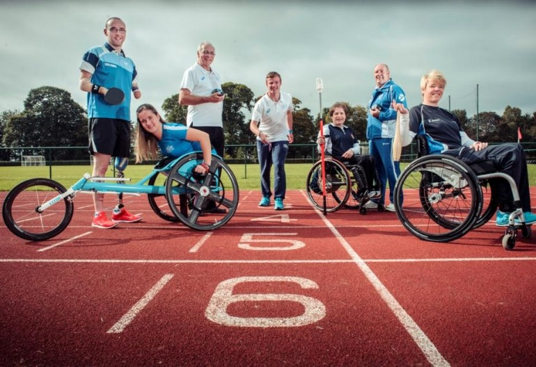Martin Perry (table tennis), Meggan Dawson-Farrell (wheelchair racer/Glasgow 2014 finalist), Ron McArthur (lawn bowls ), Lewis Clow (track athlete/Glasgow 2014 finalist), Aileen Neilson (paralympian/wheelchair curler) , Billy Allan (lawn bowls/Glasgow 2014 finalist),  Jo Butterfield (club thrower and discus/IPC Athletics European Championships 2014 gold medalist)