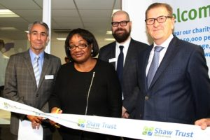 Diane Abbott leads the celebrations at the launch of Shaw Trust's new Community Hub in Hackney