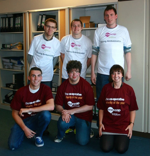 Sam (front row, centre) with his team mates