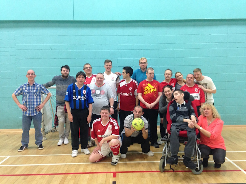 The Team from Tees Alive, with James Woodhouse from Middlesbrough FC Foundation (centre-left)