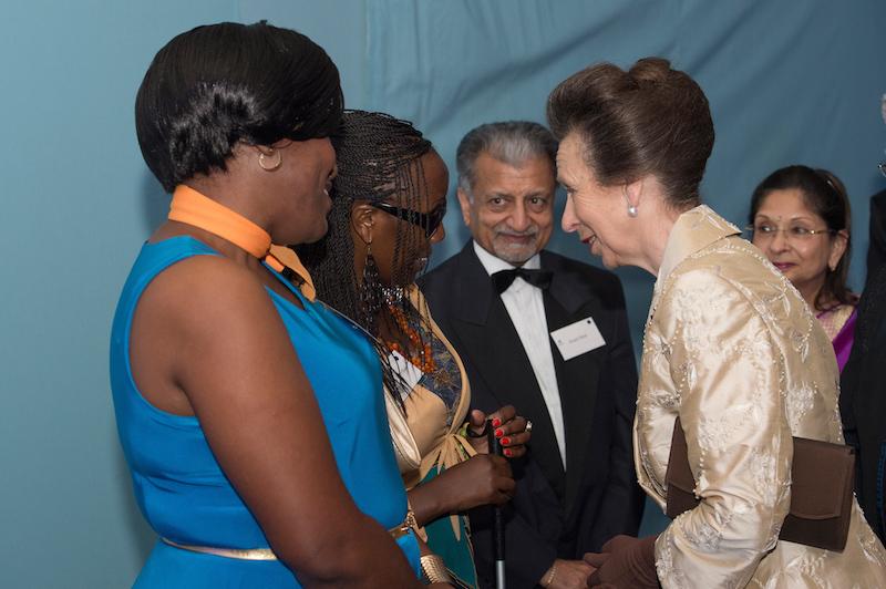 HRH The Princess Royal meeting guests Kenyan deafblind ambassadors