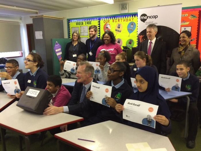 Mencap. Minister at Little Heath School