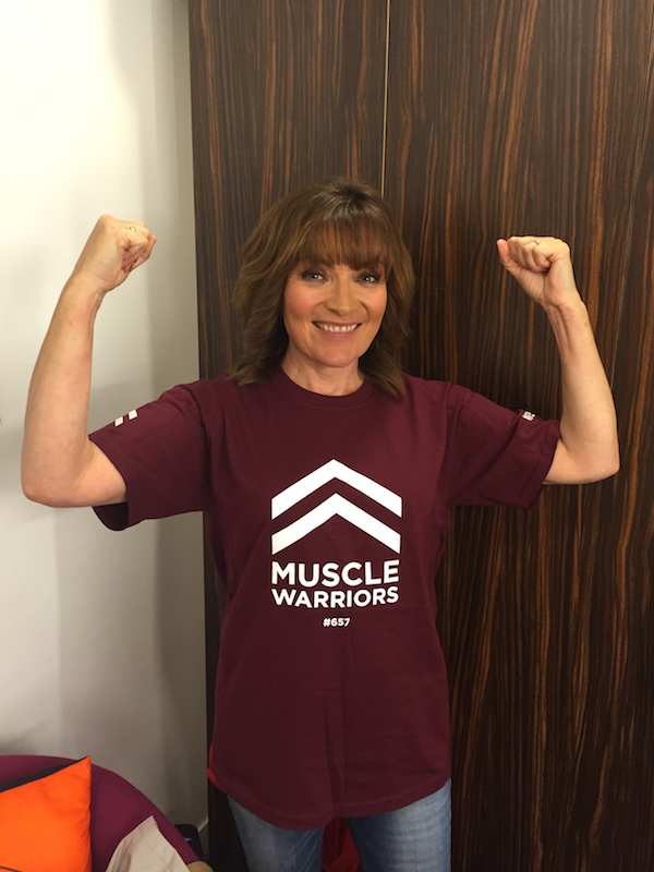 Lorraine Kelly Muscle Warrior pic