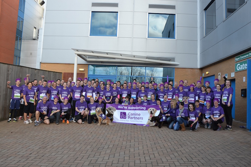 canine partners Reading Half Marathon Team