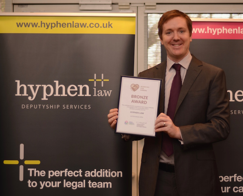 Tom Hall, Hyphen Law - Working for Carers Award