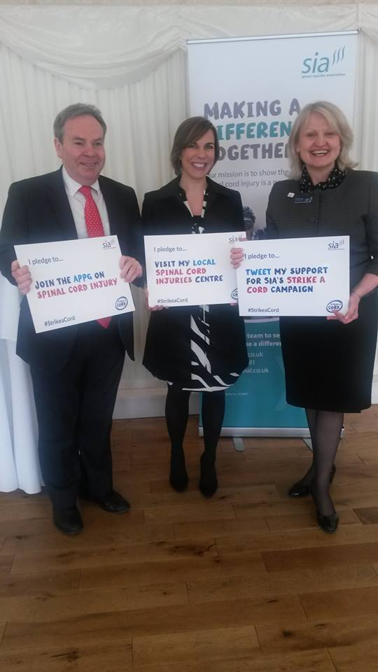 Ian Lucas MP, Claire Williams and Sue browning making their Strike a Cord pledges