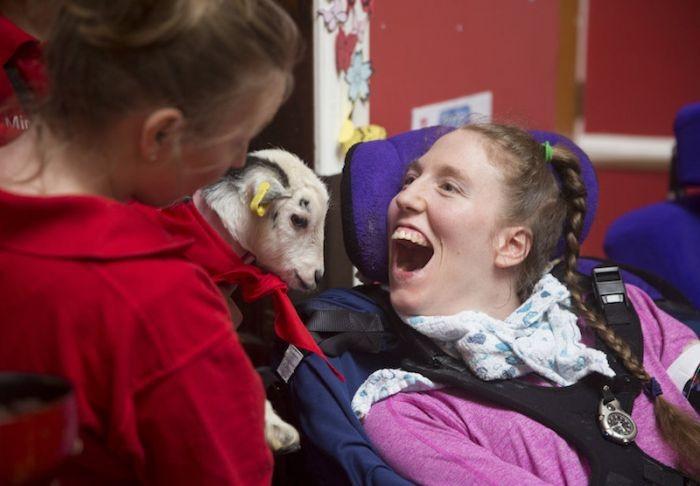 leonard cheshire goat therapy 2