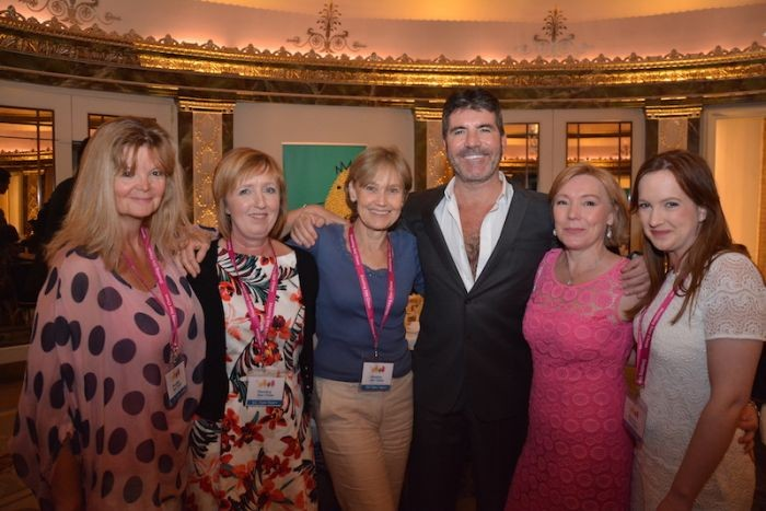 shooting star chase Simon Cowell with hospice care staff
