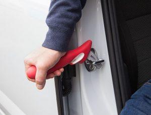 Handybar car door exit support
