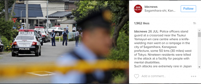 """""""It would be better if disabled people disappeared."""" 19 dead in Japan massacre"""