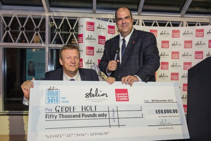 2015 winner Geoff Holt with Sir Stelios[1]