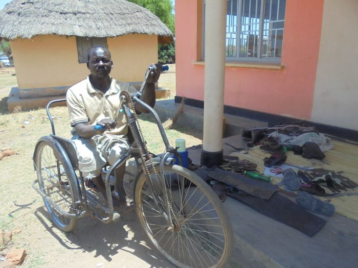 Ugandan polio survivor Issa Gabriel struggled for employment before an intervention from the Cheshire Alliance