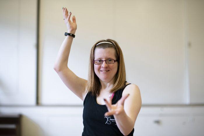 Jen Blackwell dancing